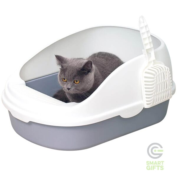 Лоток для кошек Xiaomi Semi-open Cat Litter White
