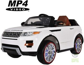 Детский электромобиль Range Rover Luxury White MP4 12V - SX118-S-WHITE-MP4
